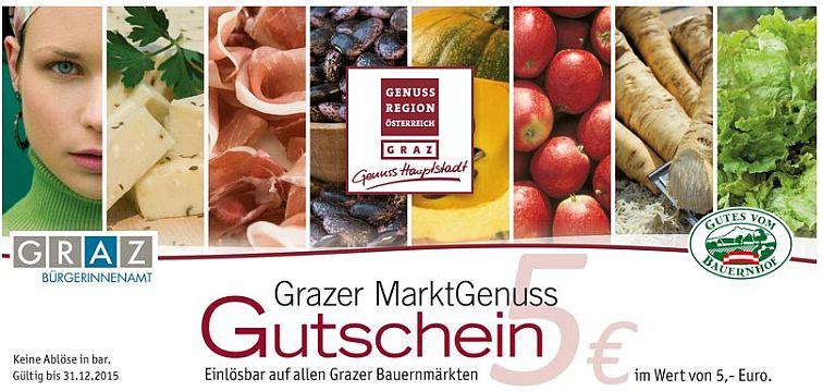 markt genuss gutschein graz bauernmarkt