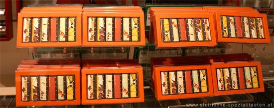 Handgeschöpfte Schokolade bei Schokoladenmanufaktur Zotter