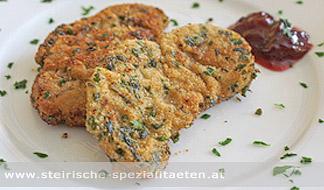 Lamm gebacken in Kräuterpanier