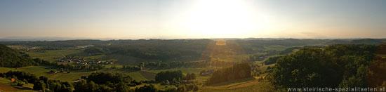 Panorama der Südoststeirische Hüegelland Weinstraße