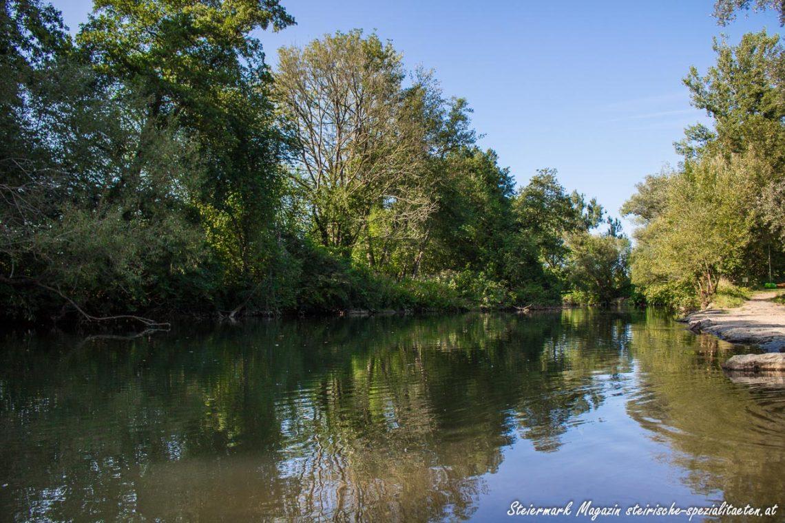 Sulmbad Steinerne Wehr: Schwimmen im ältesten Flussbad Steiermarks