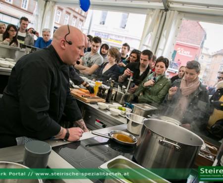 Show Cooking und Musikanten beim Der Spielberg in Graz