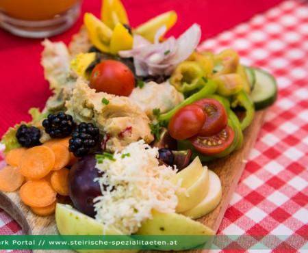 Vegane Buschenschank & Brettljause in der Steiermark