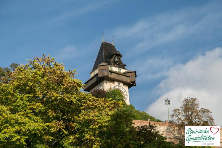 Aufsteirern Wetter Uhrturm Graz