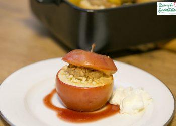 Bratapfel gefüllt mit Kastanienmus