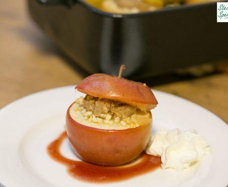 Bratapfel mit Kastanienfüllung
