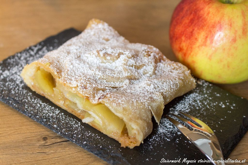 apple strudel in the kitchen