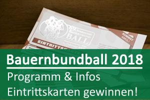 Bauernbundball Programm & Gewinnspiel