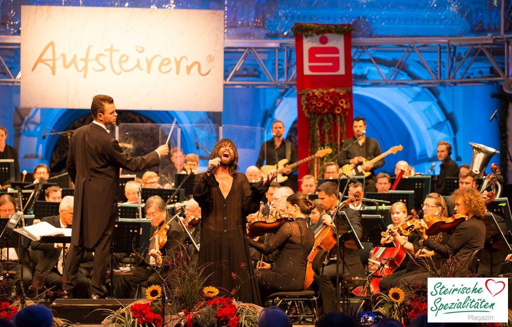 Conchita Auftritt in Graz