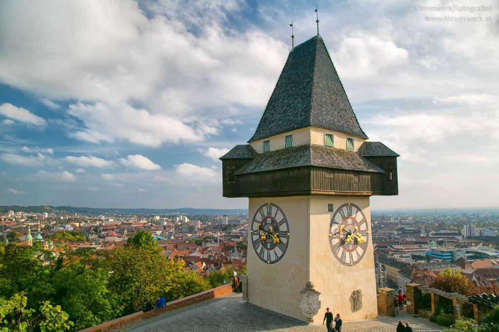 Sehenswürdigkeit Uhrturm Graz Wahrzeichen