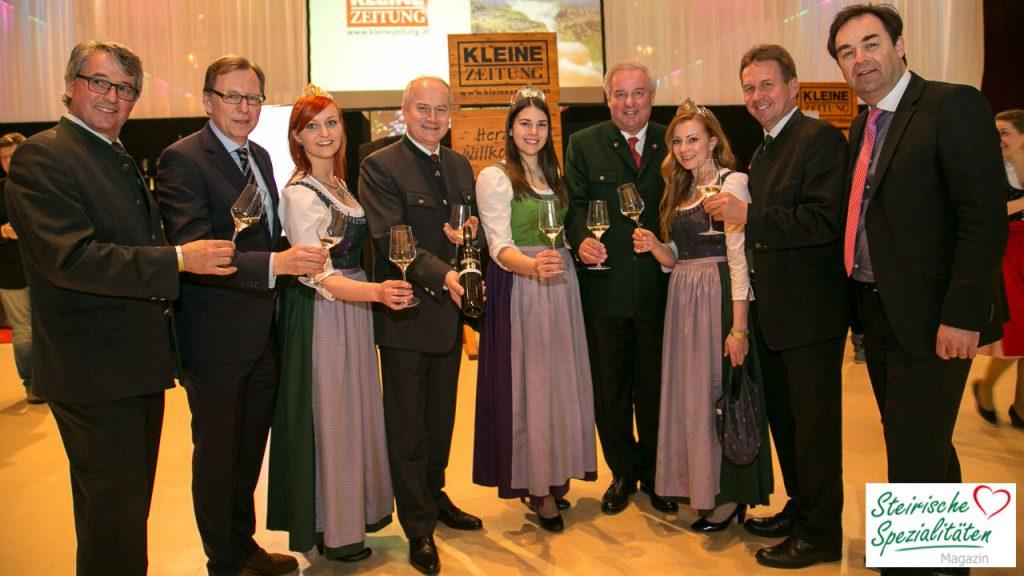 Weinverkostung Prominenz in der Grazer Stadthalle