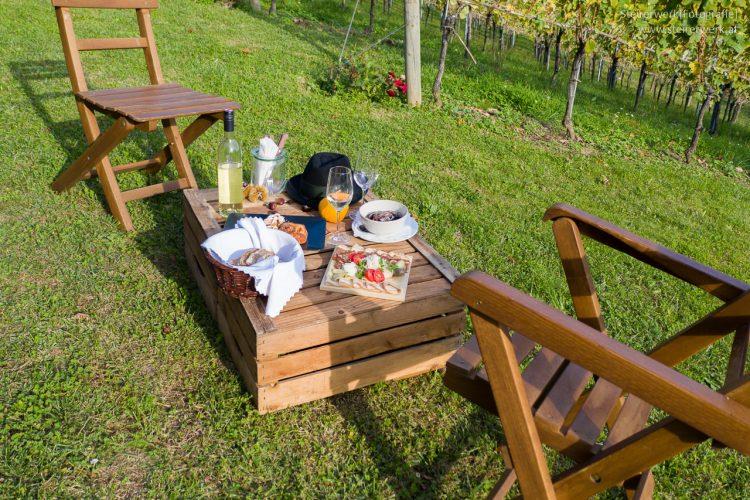 Brettljause Genuss im Weinhang Steiermark