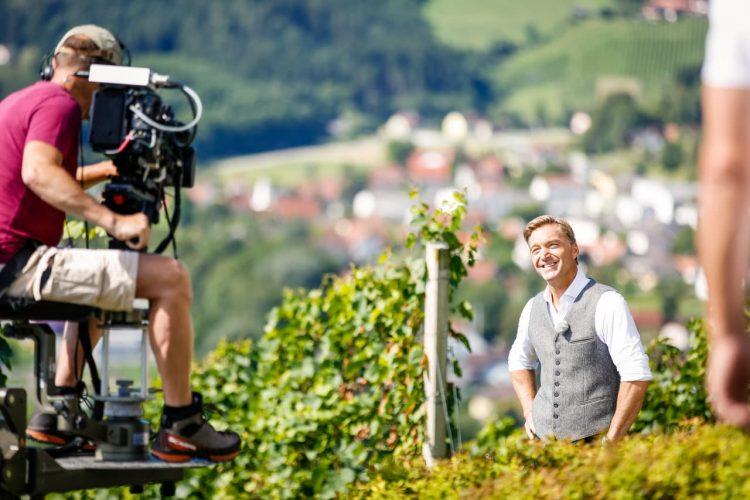 Dreharbeiten mit Hans Knauß in der Weststeiermark